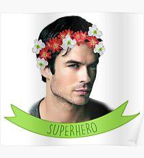 Ian Somerhalder Superhero Poster