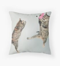 MEOW Playing Cats Throw Pillow