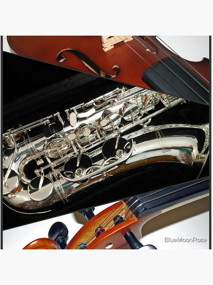 Violin and Saxophone Collage von BlueMoonRose