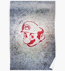Super Mario Bros Urban Hip Hop Wall Tag Poster