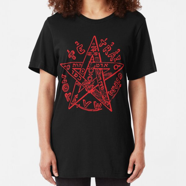 Tetragrammaton Pentagram Slim Fit T-Shirt