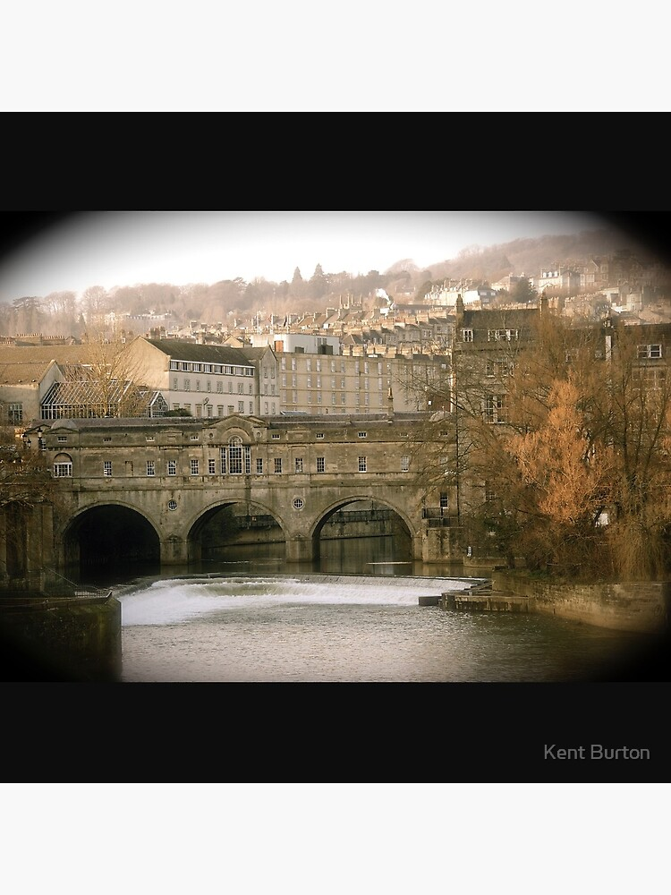 Pulteney Bridge crossing the river Avon in Bath, Somerset County, England by nkentb