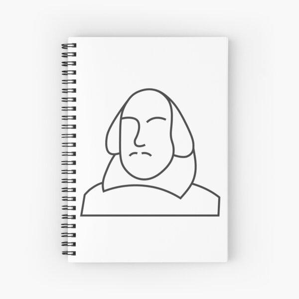 William Shakespeare Illustration / Icon Spiral Notebook