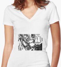 N a g i s a // 2 v.2 Shirt mit V-Ausschnitt