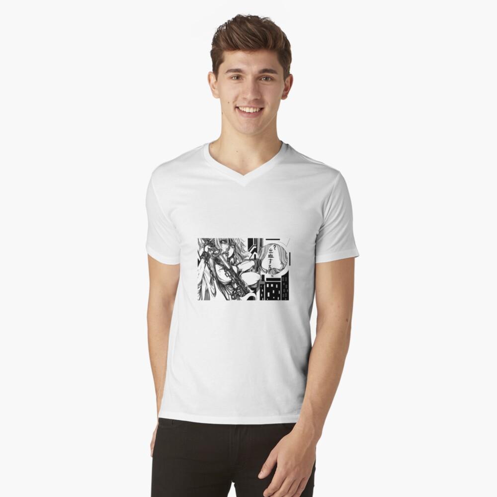 N a g i s a // 2 v.2 T-Shirt mit V-Ausschnitt für Männer Vorne