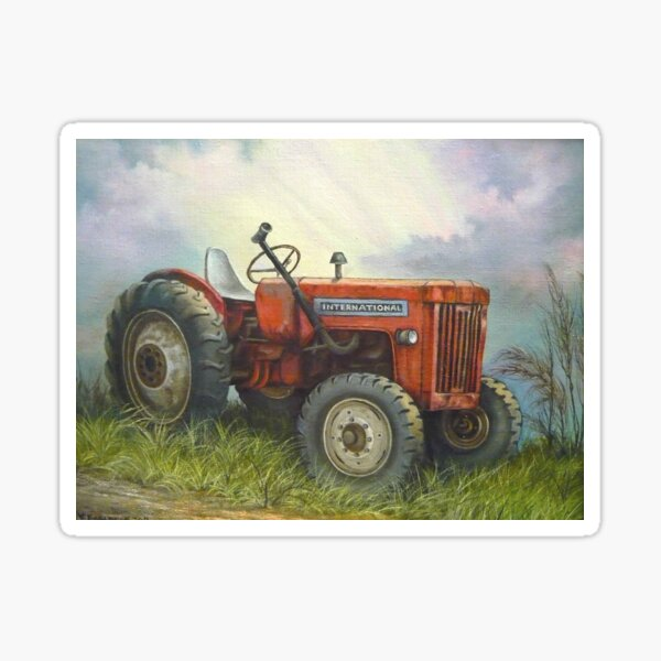 Old International Farm Tractor Sticker