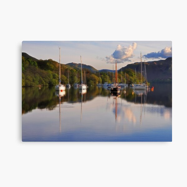 Yachts on Ullswater Canvas Print