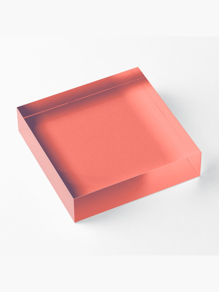 Alternate view of Living Coral 16-1546 TCX | Pantone Color of the Year 2019 | Pantone | Color Trends | New York and London | Solid Color | Fashion Colors |  Acrylic Block