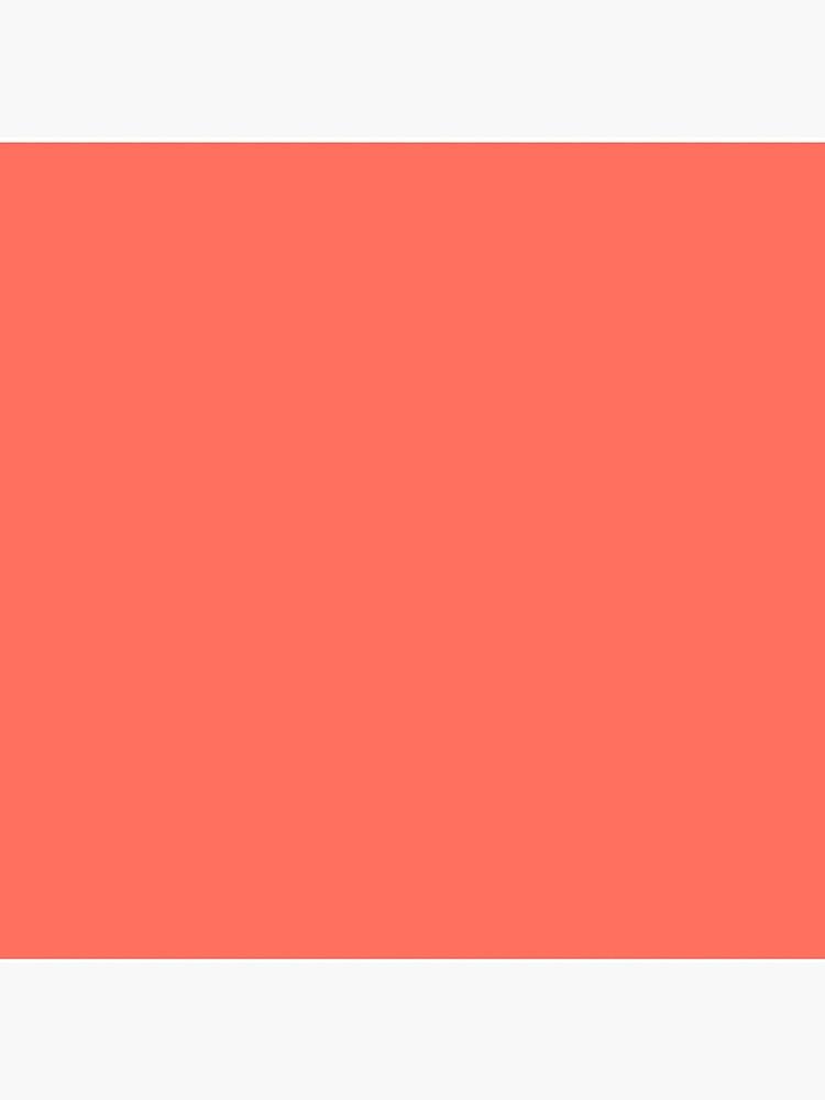 Lebende Koralle   Pantone Modefarbe des Jahres 2019   New York und London   Einfarbig von EclecticAtHeART