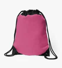 Pink Peacock | Pantone Fashion Color | Spring : Summer 2019 | New York and London | Solid Color Drawstring Bag