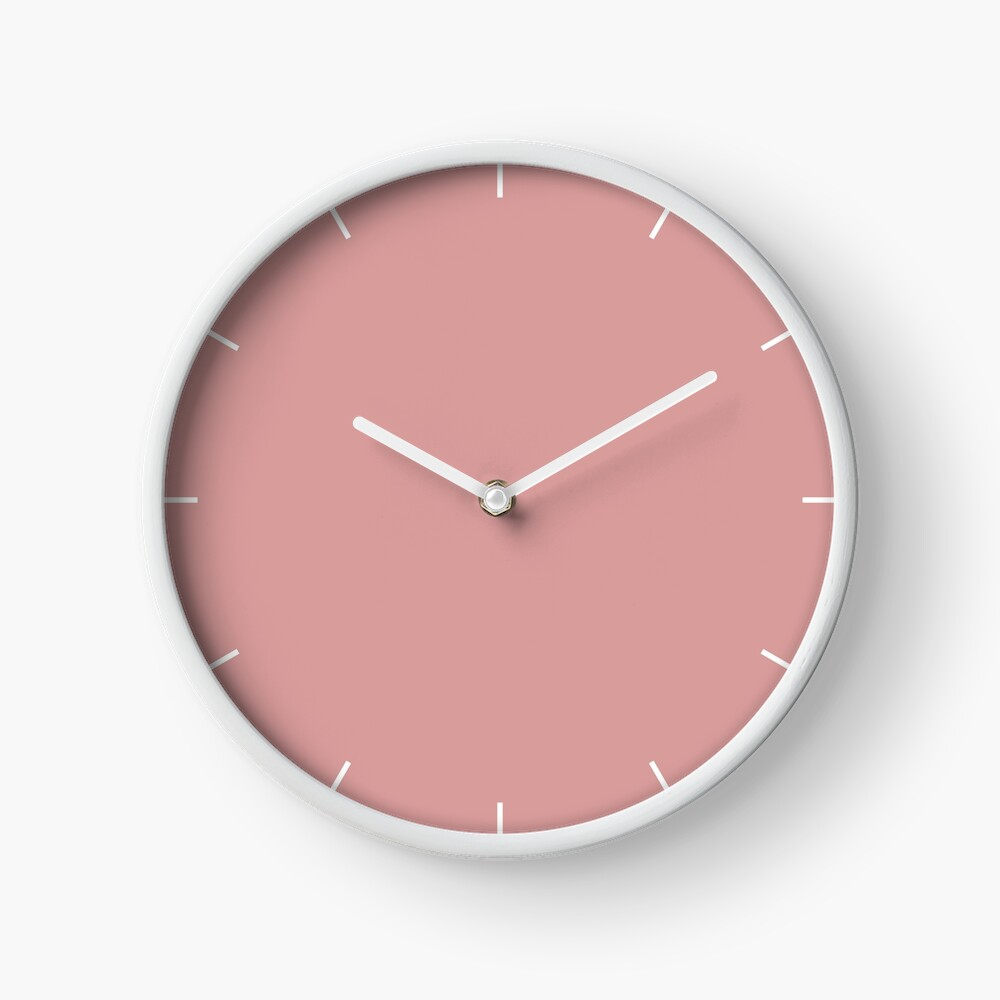 Pressed Rose 15-1619 TCX | Pantone | Color Trends | London | Spring Summer 2019 | Solid Color | Fashion Colors | Clock