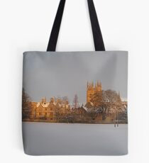 Christ Church playing fields in the snow Tote Bag