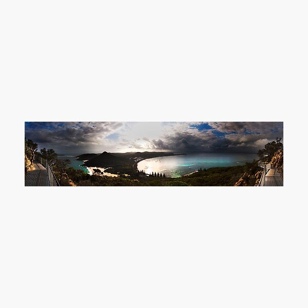 Panoramic of Tommaree Headland in Port Stephens Photographic Print