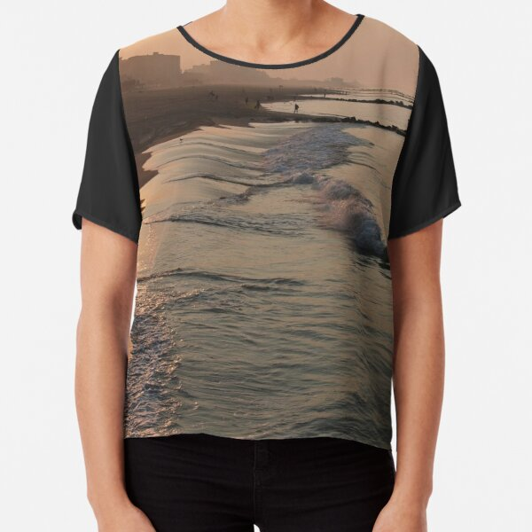 #beach, #water, #sunset, #sea, #landscape, #sand, #seascape, #dusk, #NewYorkCity, #NYC Chiffon Top