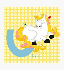 u for unicorn Photographic Print