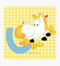 u for unicorn Photographic Print
