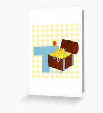 t for treasure Greeting Card