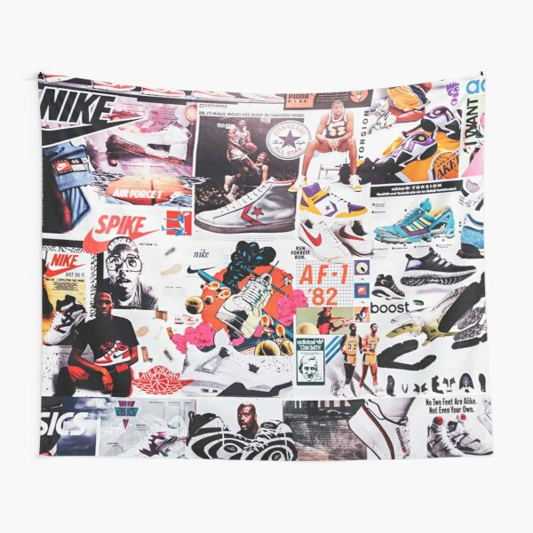 Shoes Sports Collage Tapestry