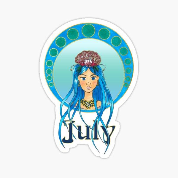 Lady July Sticker