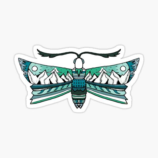 Mountain Moth - Mountain Butterfly Sticker