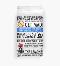 Wenn das Leben dir Zitronen gibt Bettbezug