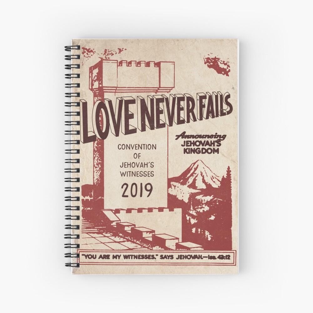 LOVE NEVER FAILS (VINTAGE WT) Spiral Notebook
