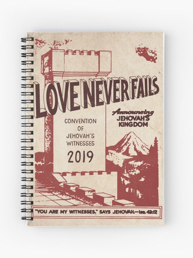LOVE NEVER FAILS (VINTAGE WT) | Spiral Notebook