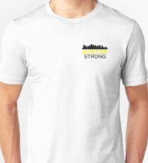 Boston Strong - Skyline Black and Yellow Unisex T-Shirt