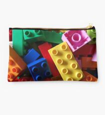 colourful building blocks #2 for laptop Studio Pouch