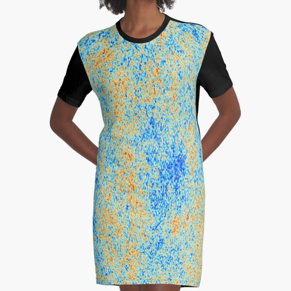 The Cosmic Microwave Background (CMB, CMBR) #Cosmic #Microwave #Background #CMB CMBR Graphic T-Shirt Dress