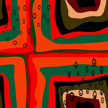 Abstract modern retro colors shapes squares green orange red by fuzzyfox