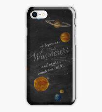 Wanderers - Carl Sagan Chalk Art iPhone Case/Skin