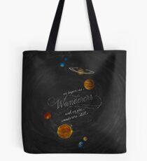 Wanderers - Carl Sagan Chalk Art Tote Bag