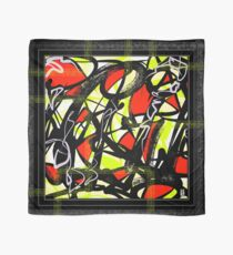 Red & Green Action Painting Scarf Scarf
