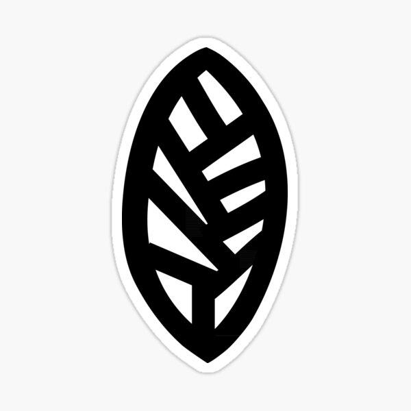 Simple leaf design Sticker