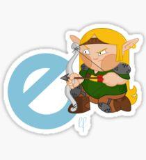 e for elf Sticker