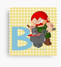 b for blacksmith Canvas Print