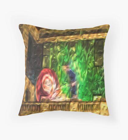 Snail in the Clocktower Throw Pillow