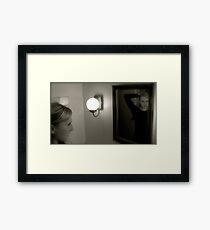 Reflection of Gracie Framed Print
