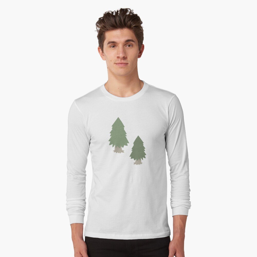 Cut your own Christmas tree (Patterns Please) Long Sleeve T-Shirt