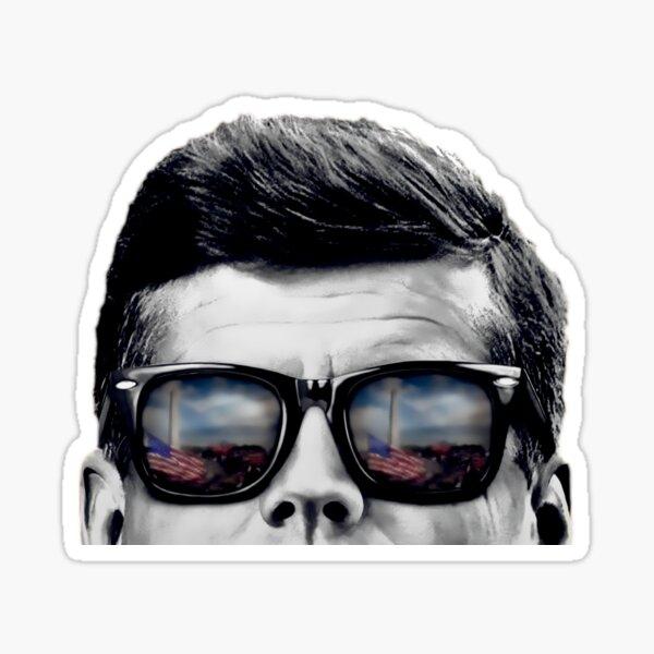JFK Pop-Art (Black & White) Sticker