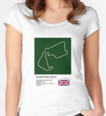 Silverstone Circuit - v2 Women's Fitted Scoop T-Shirt