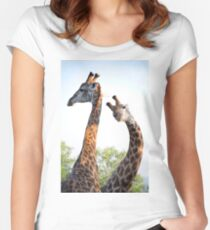 Walking with Giraffes - South Africa Women's Fitted Scoop T-Shirt