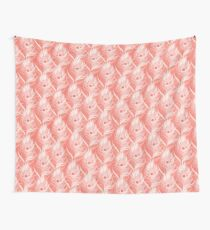 Peacock feather   Living Coral Wall Tapestry