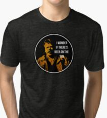 Zap Rowsdower - BEER QUOTE Tri-blend T-Shirt