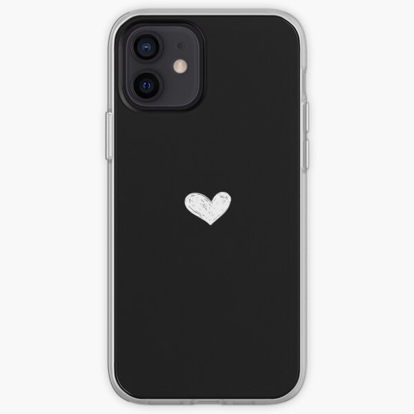 heart (black) iPhone Soft Case