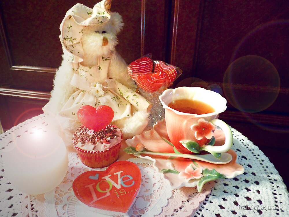 """Victorian Tea Setting On Valentine's Day"" by franticflagwave"