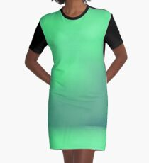Abstract Spring Green Background Graphic T-Shirt Dress