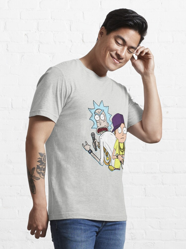 "Alternate view of Rick and Morty™ Rap Mode ""Gettin' Schwifty Wit It"" Essential T-Shirt"