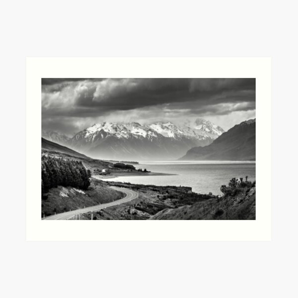 The Road to Mount Cook Sth Island ,NZ Art Print